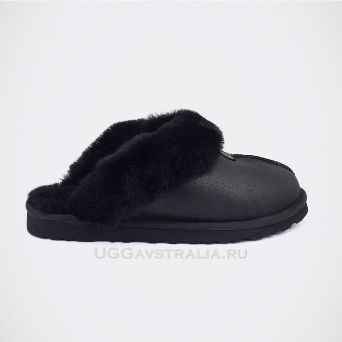 Мужские тапочки UGG Mens Coquette Slipper Metallic Black