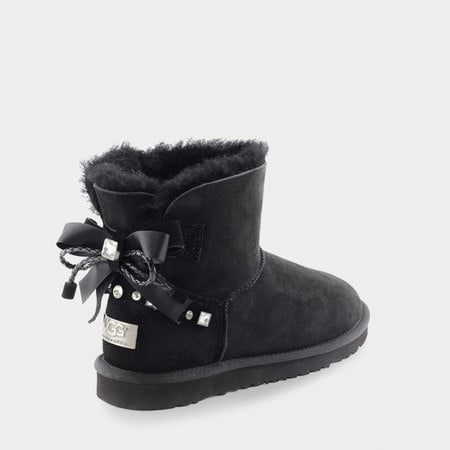 Угги UGG Mini Bailey Bow Braid Black