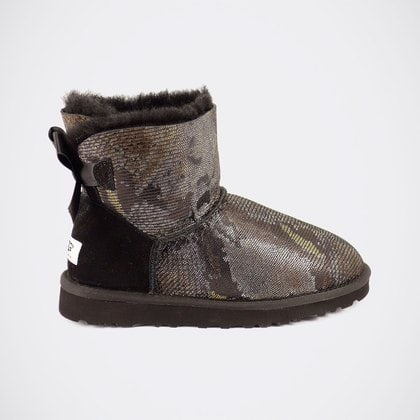 Угги UGG Mini Bailey Bow Snake Black