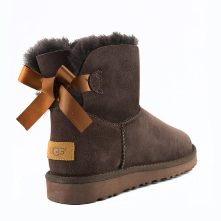 Угги UGG Mini Bailey Bow II Chocolate