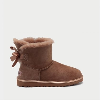 Угги UGG Mini Bailey Bow II Metallic Driftwood