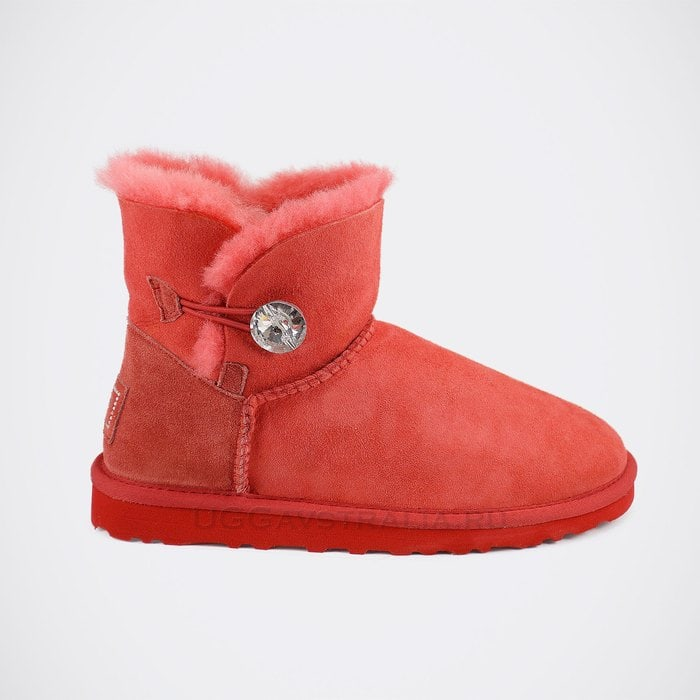 Женские полусапожки UGG Mini Bailey Bling Red