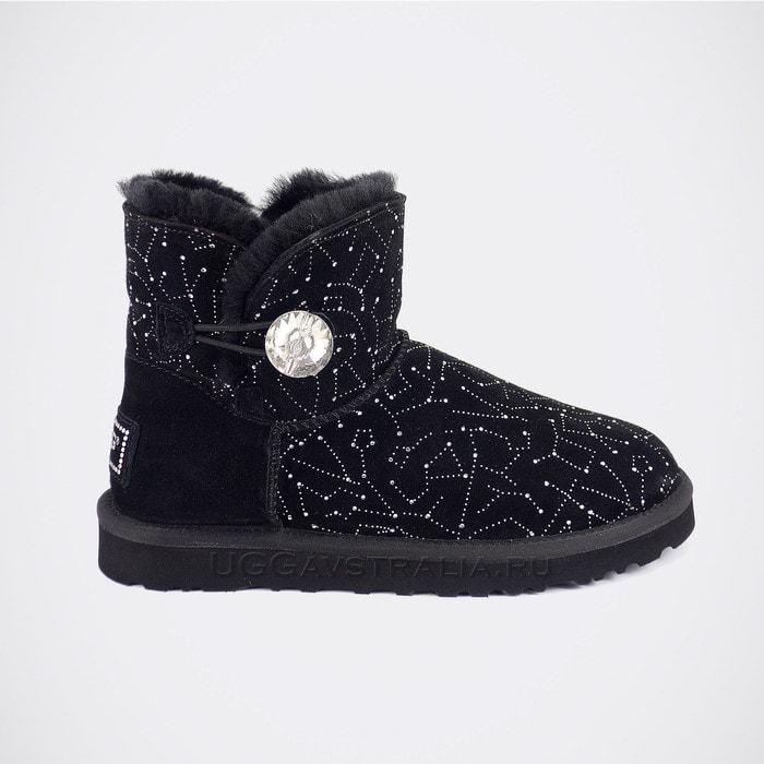 Женские полусапожки UGG Mini Bailey Bling Constellation Black