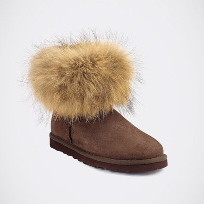 Угги UGG Mini Fox Fur Chocolate