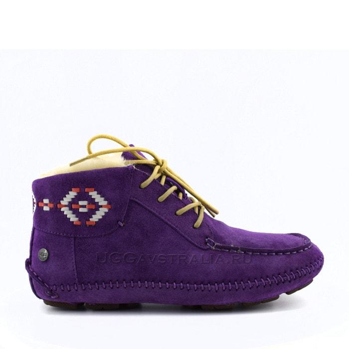 Женские мокасины UGG Chaunce Rustic Weave Purple