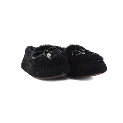 Мокасины UGG Ansley Fur Ornate Black