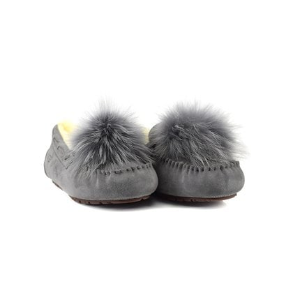 Мокасины UGG Dakota Pom Pom Grey