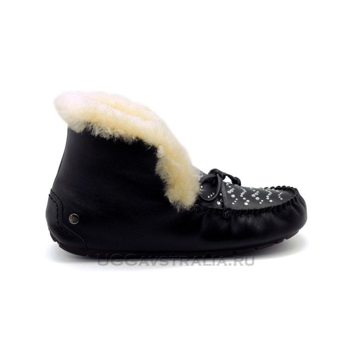 Женские мокасины UGG Alena Lunar Leather Black