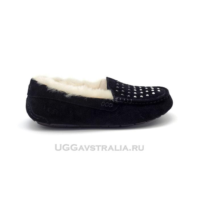 Женские мокасины UGG Ansley Pearls Black