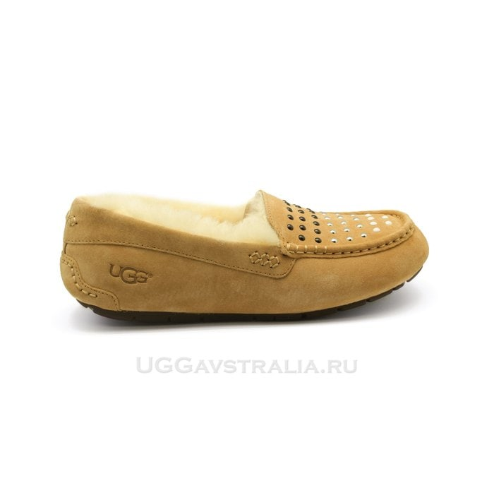 Женские мокасины UGG Ansley Pearls Chestnut