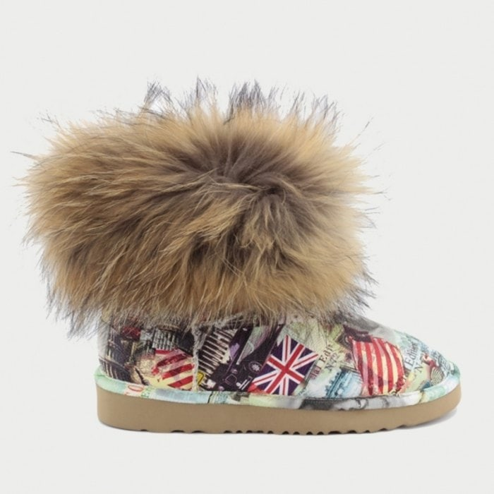 Женские полусапожки UGG Jimmy Choo Mini Travel Fox Orange