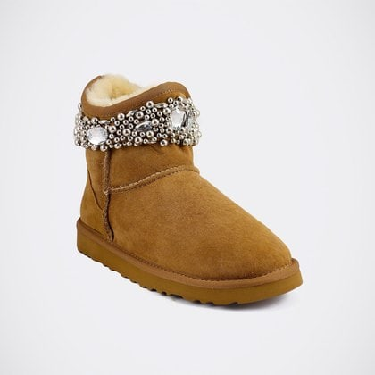 Угги UGG Jimmy Choo Crystals Chestnut