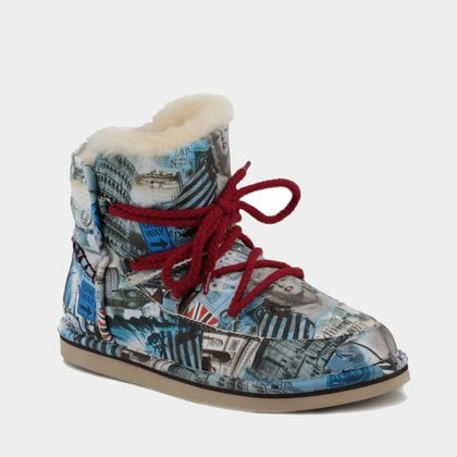Полуботинки UGG Jimmy Choo Lodge Travel Fur Blue
