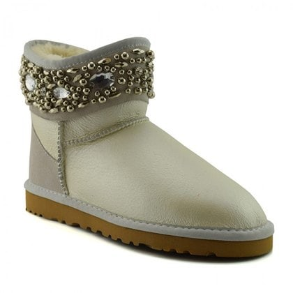 Угги UGG Jimmy Choo Crystals Metallic Sand