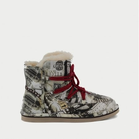 Полуботинки UGG Jimmy Choo Lodge Travel Fur Grey