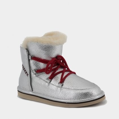 Полуботинки UGG Jimmy Choo Lodge Leather Silver