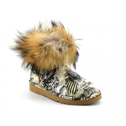 Угги UGG Jimmy Choo Mini Travel Fox Grey