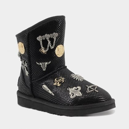 Угги UGG Jimmy Choo Multisign Snake Leather Black