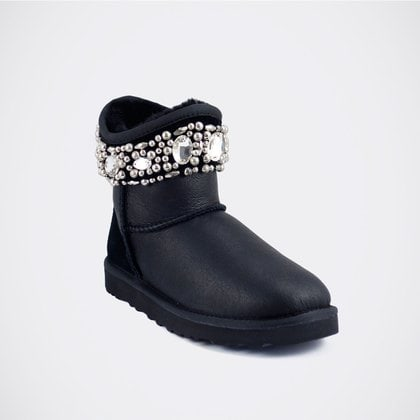 Угги UGG Jimmy Choo Crystals Metallic Black